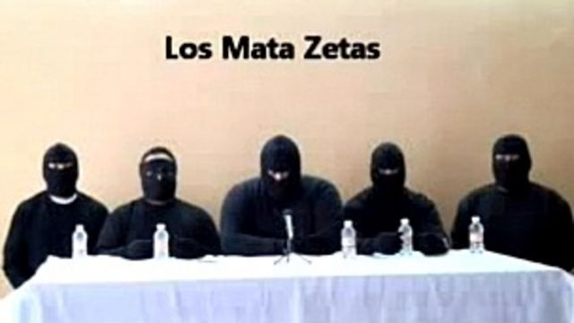 Captura de video del grupo Matazetas. Foto: AFP