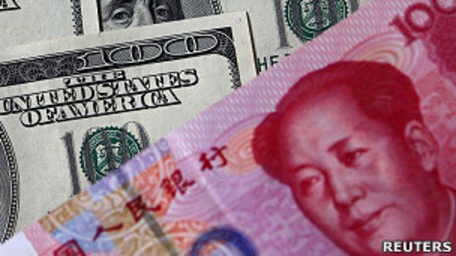 人民幣與美元鈔票