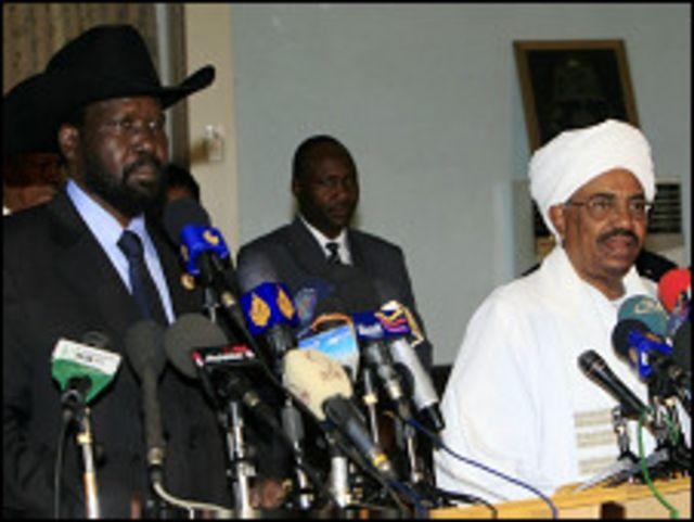 Salva Kiir da Omar al-Bashir