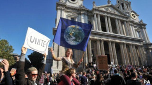 倫敦的佔領抗議者