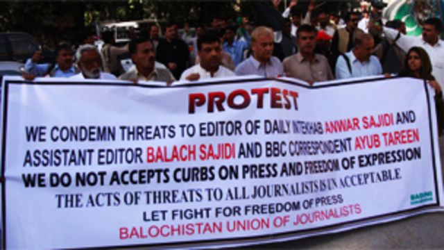 آج بلوچستان کا لگ بھگ ہر صحافی حالتِ جنگ کا قیدی ہے
