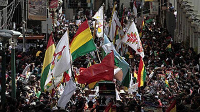 Protesta indígena en La Paz