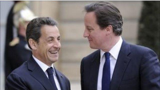 卡梅倫與薩爾科奇在星期天的歐盟會議上