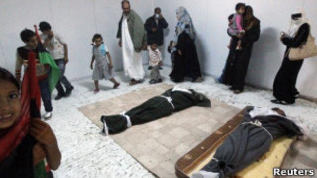 Тело Муамара Каддафи