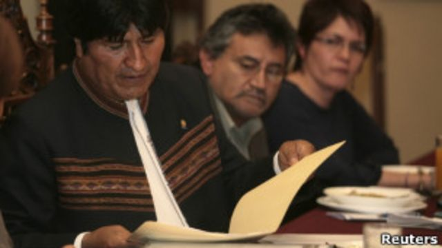 Evo Morales en La Paz