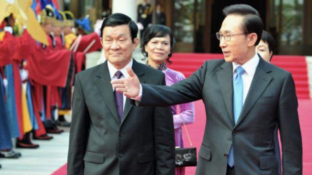Chủ tịch Trương Tấn Sang và Tổng thống Lee Myng-bak