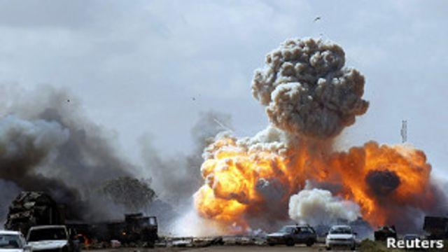 حملات ناتو به لیبی
