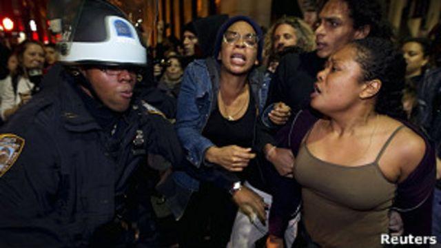警方行動清理佔領華爾街抗議者營地