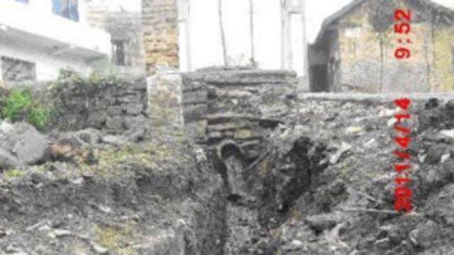 受青樹二礦污染的當地村莊(馬蕭提供)