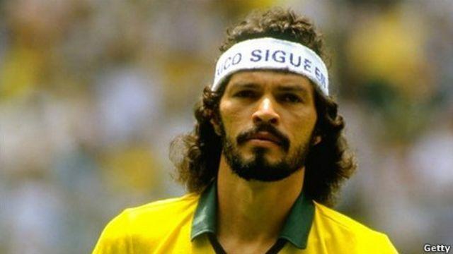 Sócrates durante a Copa de 1982 (Foto: BBC)
