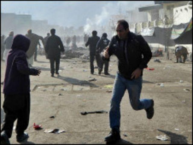 ဘုရားဖူးတွေ တိုက်ခိုက်ခံရပြီး ကာဘူးမြို့ မြင်ကွင်း