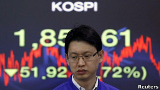 Трейдер южнокорейской биржи Kospi