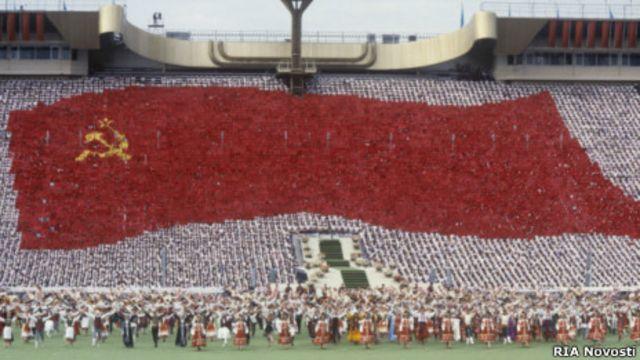 Открытие XII семирного фестиваля молодежи и студентов в Москве, 1985 г.