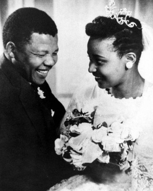 Mandela na Winnie ku munsi w'ubukwe bwabo