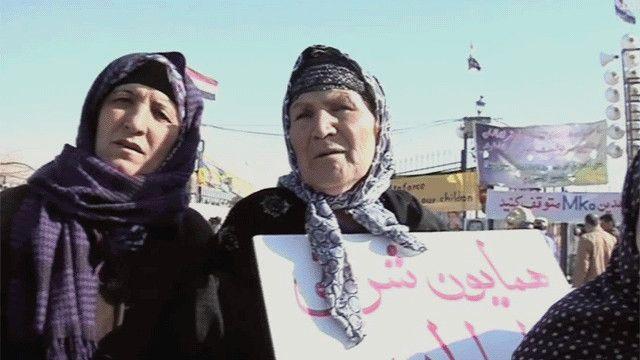 خانواده های اعضای مجاهدین خلق در اطراف پایگاه اشرف