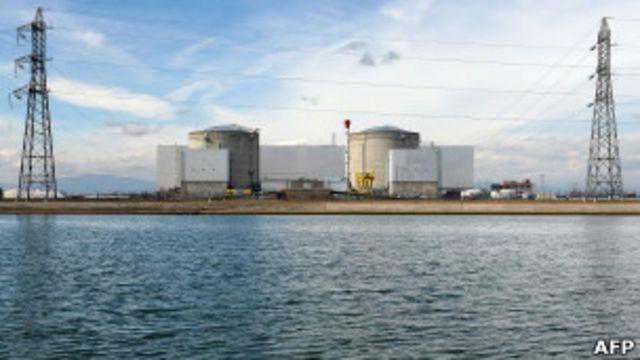 Planta nuclear de Fessenheim, en el este de Francia