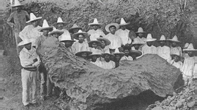 Meteorito en Bacubirito, México