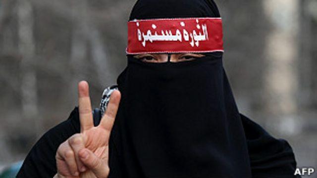 manifestante prodemocracia egipcia