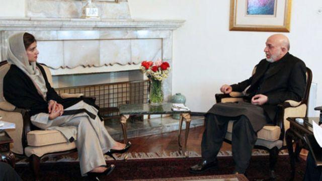 کرزی و حنا ربانی وزیر خارجه سابق پاکستان