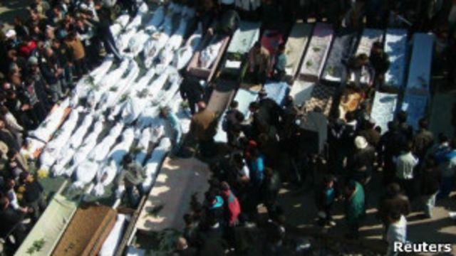Funeral em Homs Foto: Reuters