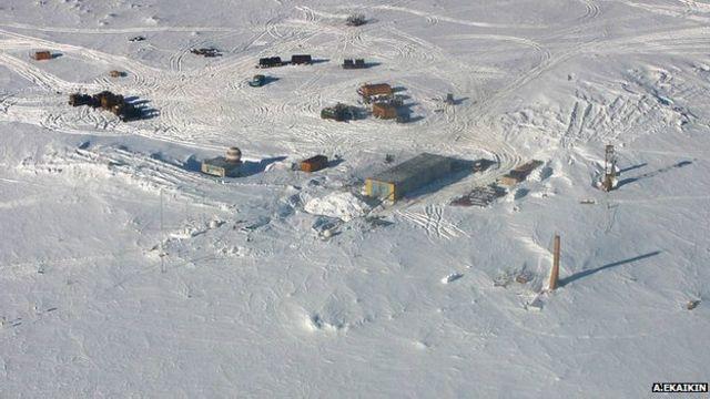 Исследовательская станция над озером Восток (архивное фото)