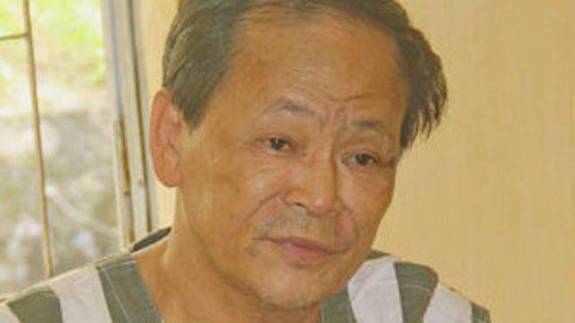Ông Phan Văn Thu tại cơ quan công an (ảnh của mạng thông tin Bee)