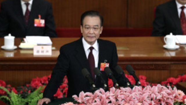 Thủ tướng Ôn Gia Bảo phát biểu trước Quốc hội Trung Quốc