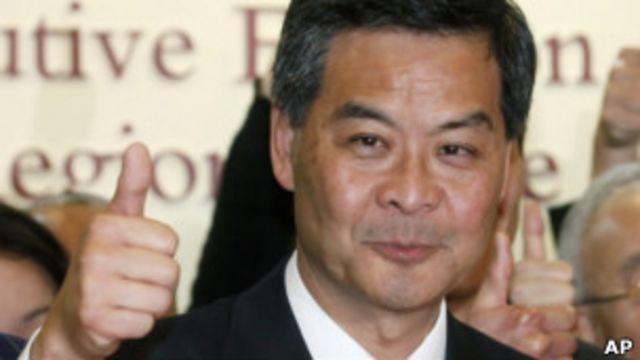 香港新選出的特首梁振英
