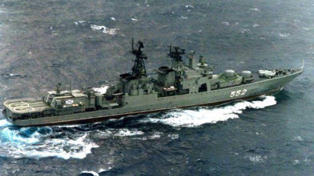 Chiến hạm Đô đốc Tributs của Nga thăm Việt Nam hồi 2012 - hình minh họa