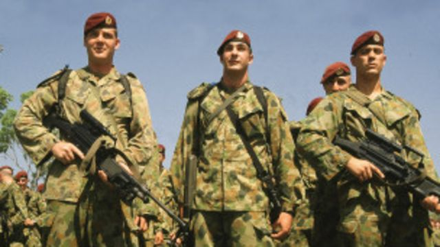 Lính mũ nồi đỏ của Úc thời tham gia bảo vệ hòa bình ở Đông Timor 1999: Úc luôn có sự quan tâm sâu sắc đến an ninh Đông Nam Á