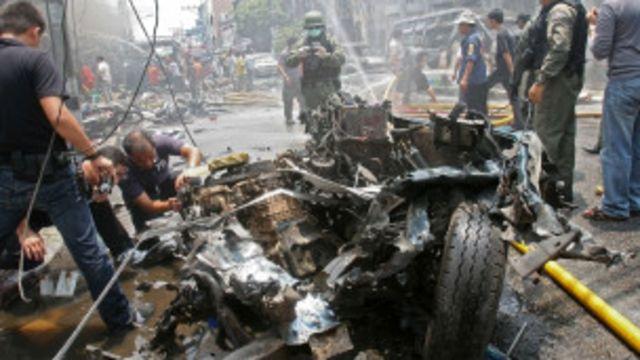 ဗုံးပေါက်ကွဲမှု တခုက မြင်ကွင်း