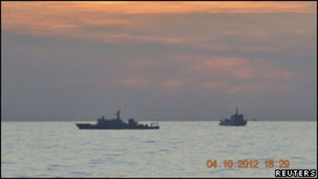 中國、菲律賓在南海巡邏