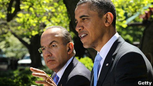 Barack Obama y Felipe Claderón