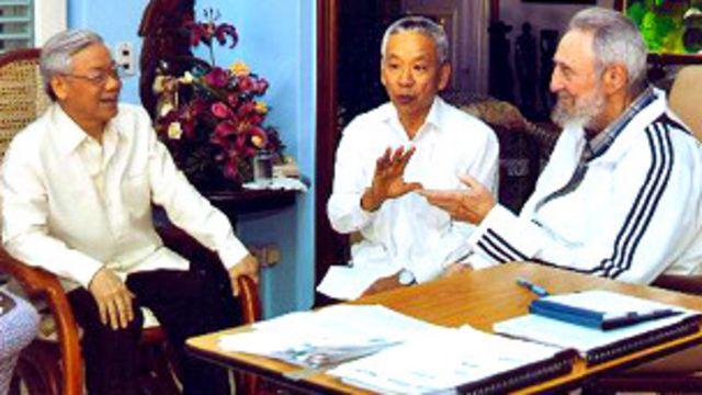 Ông Nguyễn Phú Trọng thăm ông Fidel Castro
