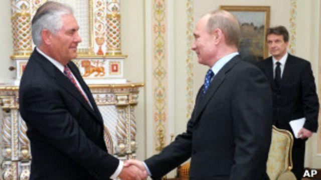 Владимир Путин и Рекс Тилерсон