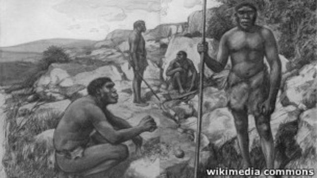 Homem neandertal (Wikimedia Commons)