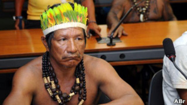 Índios ocupam sala da CCJ, na Câmara, em Brasília  (Foto de arquivo, Fabio Rodrigues Pozzebom/ABr)