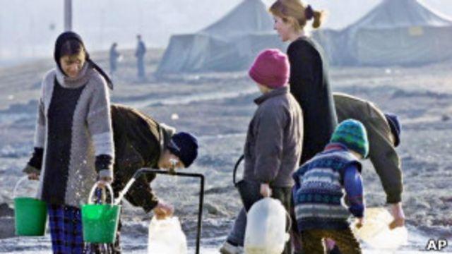 Чеченские беженцы в 1999 году