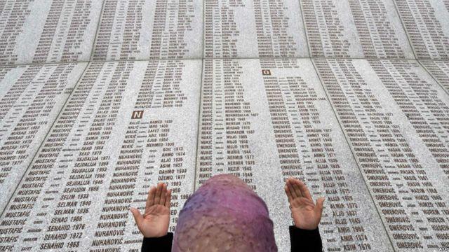 Monumen peringatan korban Srebrenica