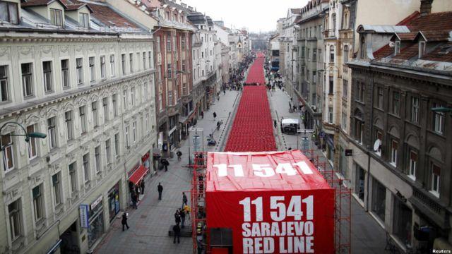 Peringatan 20 tahun perang Balkan di Sarajevo