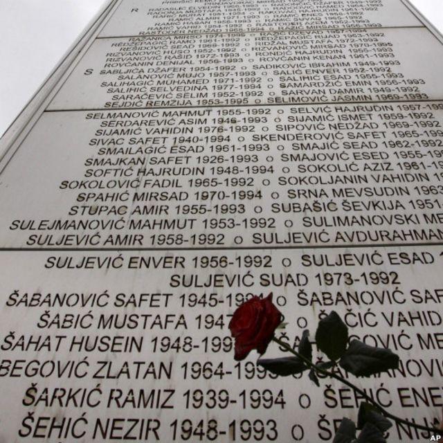 Tugu peringatan korban Sarajevo