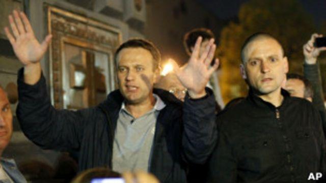 Алексей Навальный и Сергей Удальцов