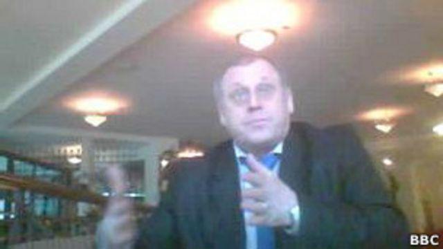 Владимир Геращенко, кадр из фильма Би-би-си