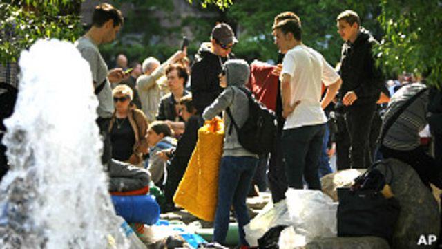 Акция протеста на Чистых прудах