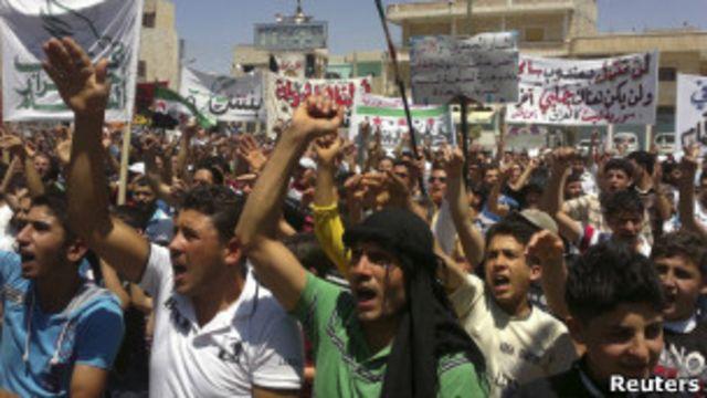 Protestos na Síria | Crédito da foto: Reuters