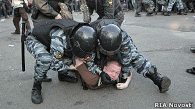 Аресты во время разгона митинга 6 мая