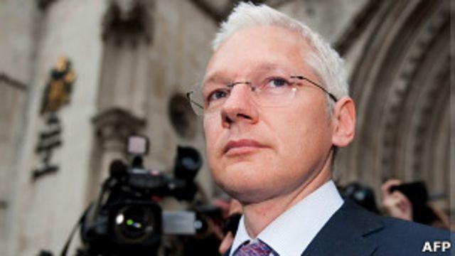 Assange. em foto de arquivo