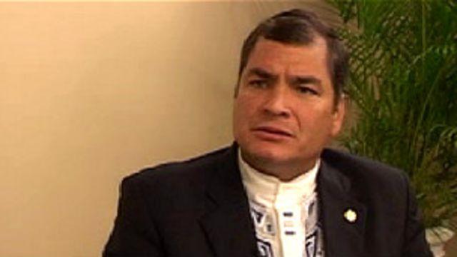 Correa em entrevista à BBC Mundo