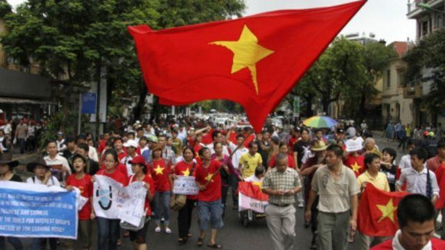 Biểu tình ở Hà Nội ngày 1/7/2012