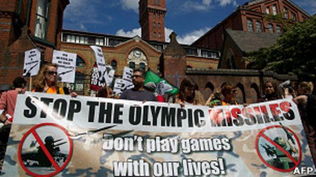 Protesta por ubicación de misiles en Londres